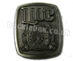 MILLER LITE - A FINE PILSNER BEER BELT BUCKLE + display stand - Officially Licensed